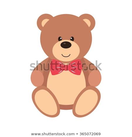 Teddybeer tekening kunst cute cartoon Stockfoto © indiwarm
