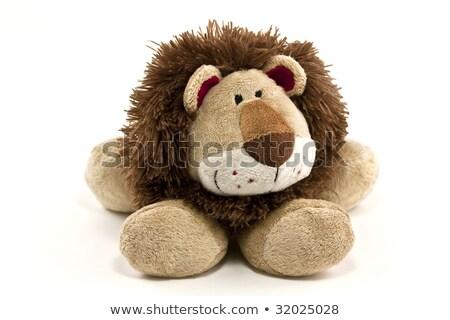 изолированный · игрушку · лев · коричневый · пластиковых · белый - Сток-фото © TeamC