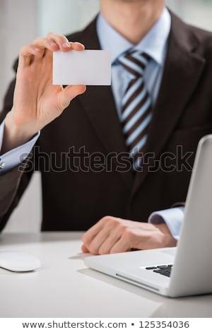 Closeup of torso of confident business man wearing elegant suit  Stock photo © HASLOO