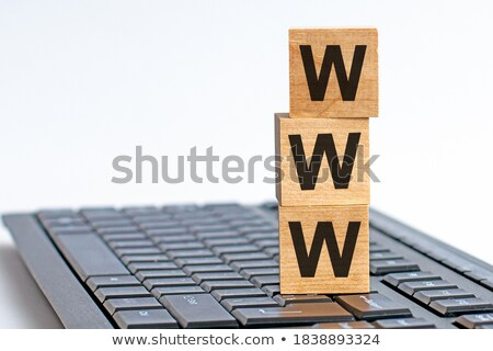 online learning and internet signs in white blocks Stock photo © marinini