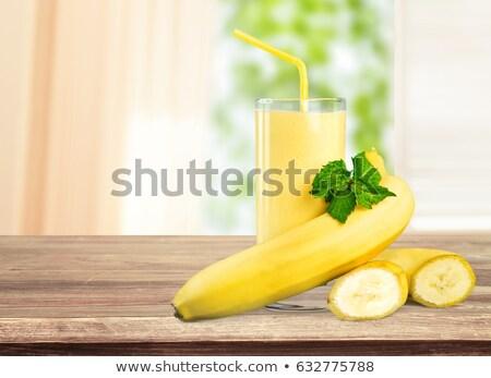 plátano · jugo · alimentos · frutas · vidrio · fondo - foto stock © M-studio