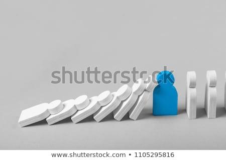 Zakenman lijn business hand spel nummers Stockfoto © photography33