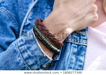 Leather wristbands Stock photo © Artlover