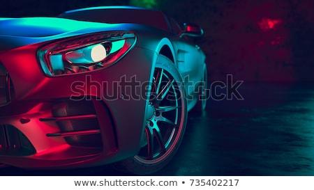 plata · coche · blanco · frente · luz · rueda - foto stock © supertrooper