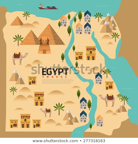 Stock photo: Pyramids of Giza Map
