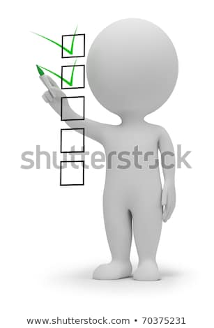 Stock photo: 3d small people with a checklist