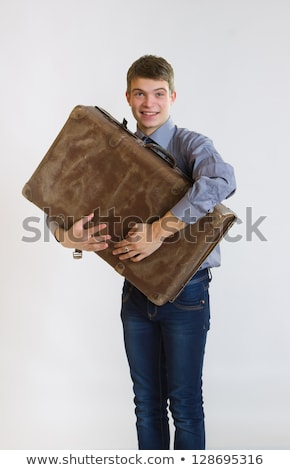 jeunes · affaires · vieux · valise · affaires - photo stock © Rugdal