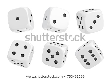 Beyaz zarlar siyah eğlence oynamak oyun Stok fotoğraf © vladodelic
