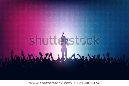 şarkı · söyleme · hüzün · gece · kulübü · şarkıcı · mikrofon · mavi - stok fotoğraf © allegro
