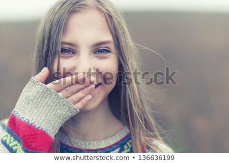 лице великолепный подростка девушка Sexy молодые Сток-фото © stockyimages