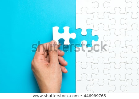Puzzle - Completing Photo stock © Kenishirotie