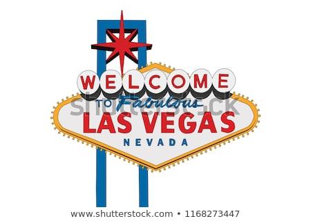 Las · Vegas · imzalamak · yalıtılmış · beyaz · şehir · Metal - stok fotoğraf © alptraum