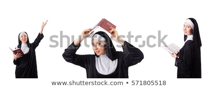 Funny nun isolated on the white background Stock photo © Elnur