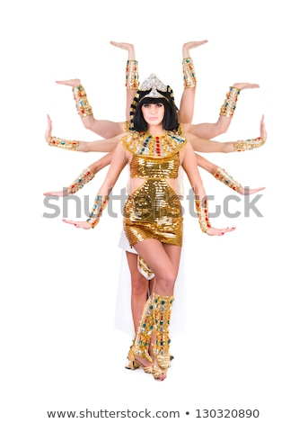 Baile faraón mujer egipcio traje Foto stock © stepstock