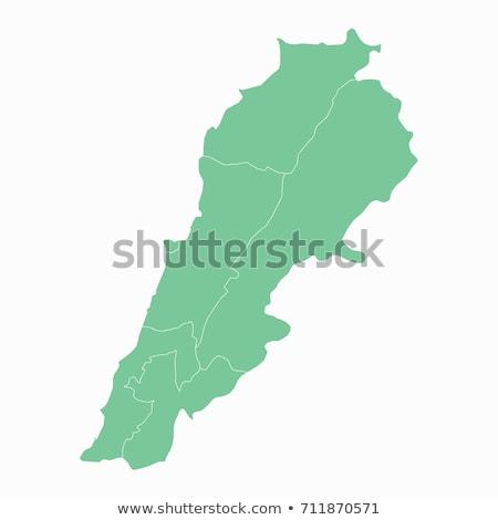 зеленый Ливан карта административный город силуэта Сток-фото © Volina