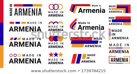 набор Кнопки Армения красочный Сток-фото © flogel