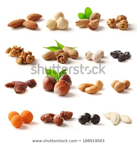mix of raisins almond nut cashew and pistachio stock photo © kirill_m