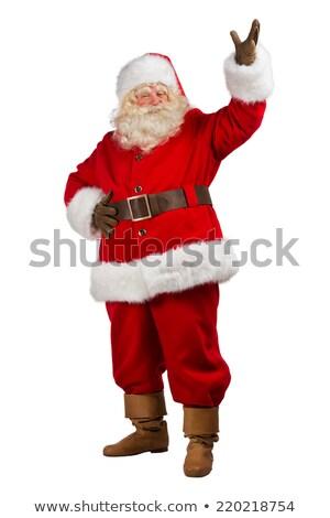 幸せ · クリスマス · サンタクロース · 歓迎 · ジェスチャー · 孤立した - ストックフォト © HASLOO