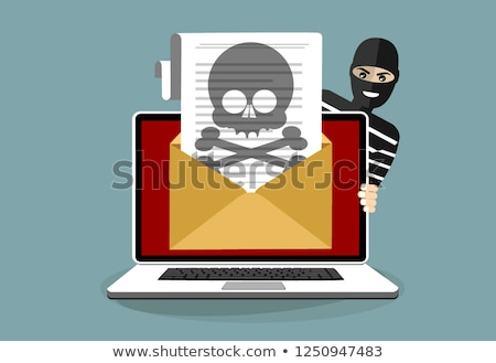thief with email sign computer piracy concept stock photo © kirill_m