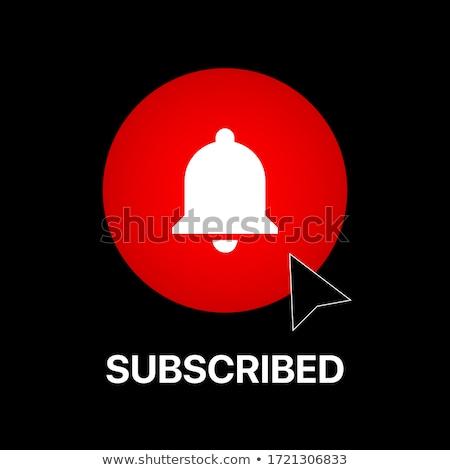 Ringing White Bell Icon on Red Arrow. Stock photo © tashatuvango