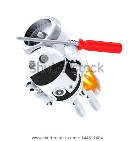 Photo stock: Robot · tournevis · rapide · ordinateur · Ouvrir · la · isolé