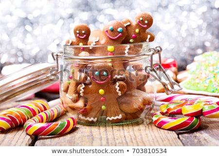 Christmas cookies kaneel tabel chocolade Stockfoto © tannjuska