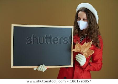 January 1 on blackboard banner Stock photo © marinini