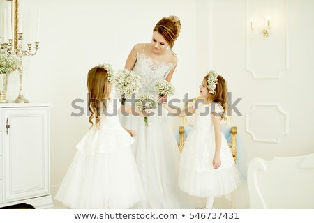 Beautiful bride and her sister Stock photo © artush