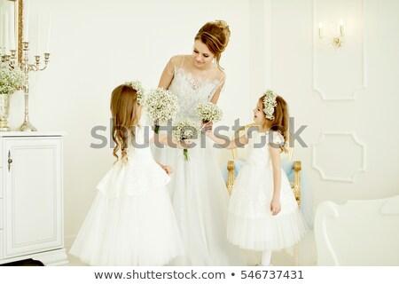 makyaj · güzel · gelin · düğün · portre - stok fotoğraf © artush