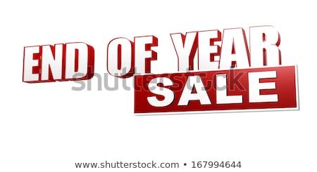 конец год продажи красный белый баннер Сток-фото © marinini