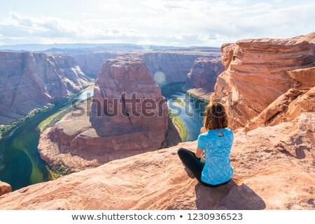 подкова · страница · Аризона · Колорадо · реке - Сток-фото © meinzahn