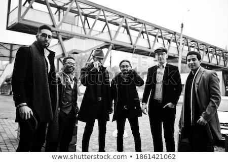 grup · gangsterler · portre · birkaç · sokak · ayakta - stok fotoğraf © pressmaster