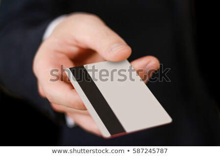 Credit card in hand when you pay Stock photo © mizar_21984