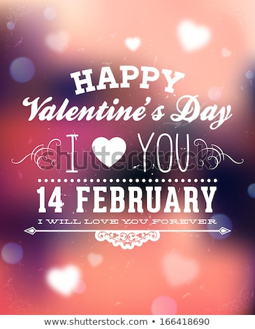 I Love You calligraphic headline and happy valentine's day color Stock photo © bharat
