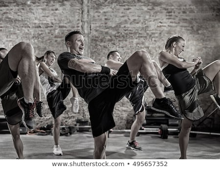 Man practicing body combat Stock photo © iko