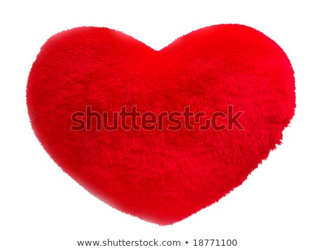 Stockfoto: Rood · pluche · hart · witte · geïsoleerd · liefde