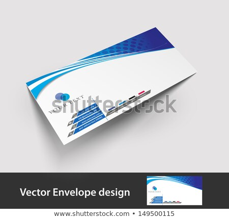 Carpeta etiqueta hoja informativa negocios dinero pluma Foto stock © Zerbor