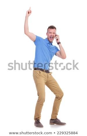 man yelling over the phone stock photo © ichiosea
