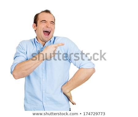 man laughing at someone Stock photo © ichiosea