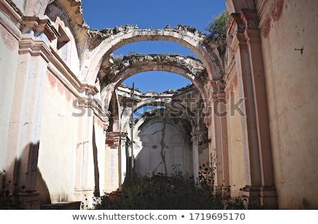 öreg · ház · tavasz · fal · festék · fekete - stock fotó © photosebia