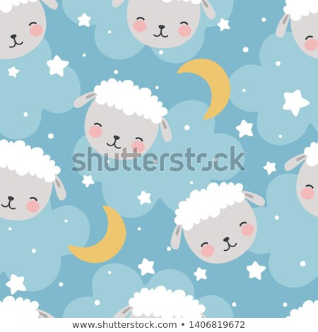 Seamless pattern of weather icons, endless background of sky Stock photo © elenapro