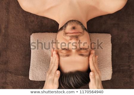 Foto stock: Mulher · cabeça · massagem · luxo · estância · termal · centro