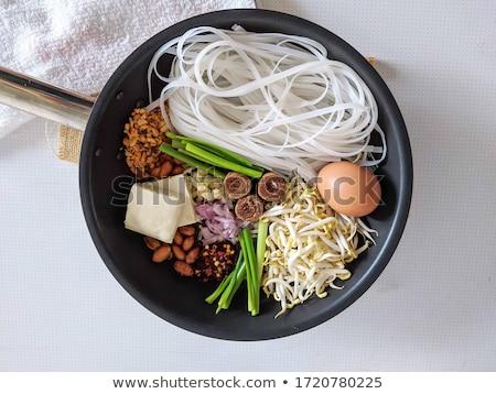 тайский · стиль · жареный · продовольствие · фон - Сток-фото © pzaxe