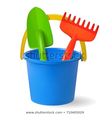 Seau bêche coloré plastique jouets plage Photo stock © Tagore75