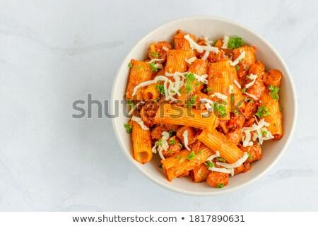 Pasta Rigatoni Stock photo © Elena_Botta