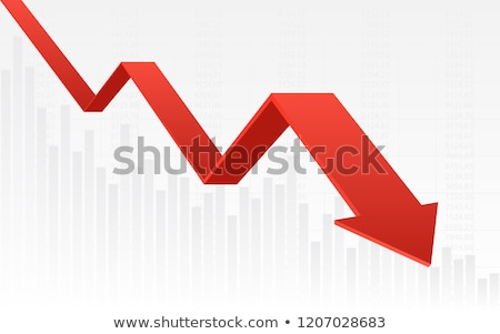 rojo · flecha · abajo · línea · gráfico · economía - foto stock © madebymarco