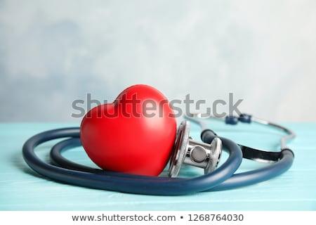 Malattie cardiache isolato bianco mano sangue sfondo Foto d'archivio © OleksandrO