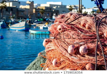 traditional fishing boats marsaxlokk harbour malta stock photo © travelphotography