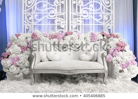 пусто · свадьба · стульев · цветы · ресторан · таблице - Сток-фото © amok