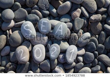 Stock fotó: Fekete · kő · felirat · harmónia · absztrakt · kő